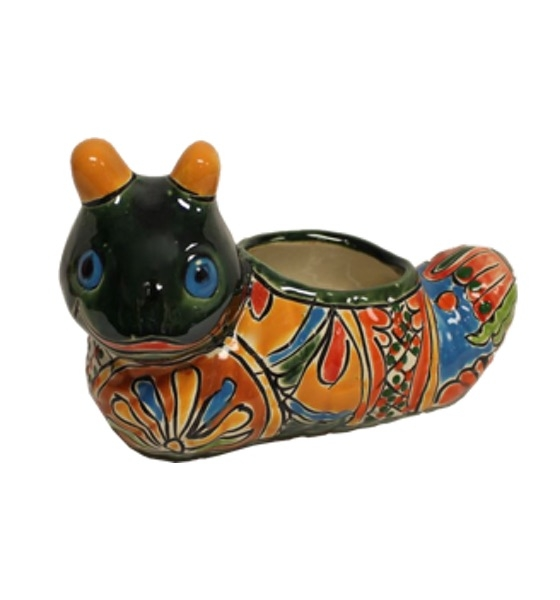 TANP275S | Talavera Caterpillar Planter | $6