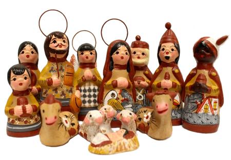 Clay Nativity